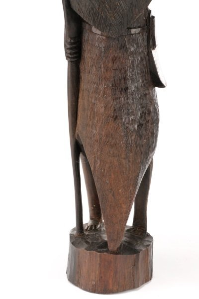 Group of 2 African Carved Ebony Figural Sculptures - 2