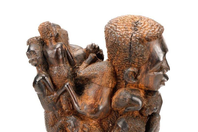 African Makonde Ujamaa Carved Figural Sculpture - 2