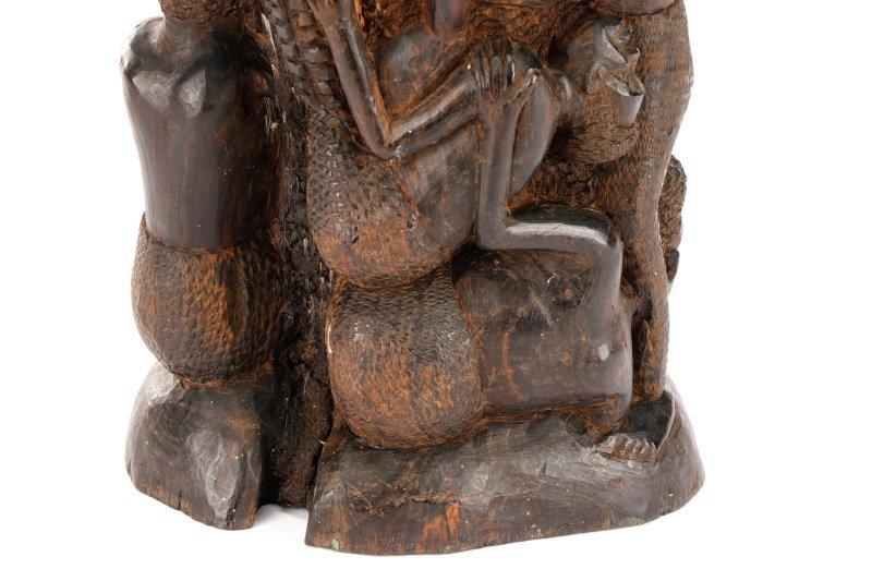 African Makonde Ujamaa Carved Figural Sculpture - 5