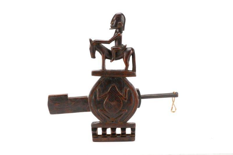 African Dogon Carved Granary Door Lock or Anuan - 2