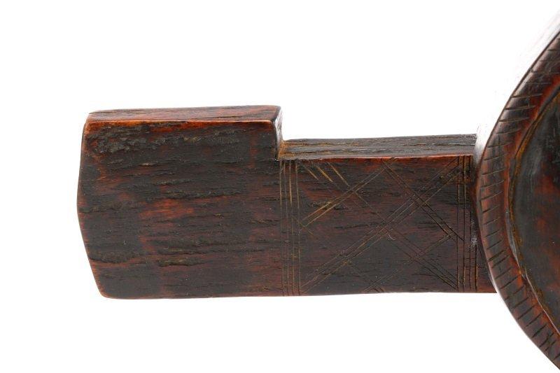African Dogon Carved Granary Door Lock or Anuan - 5