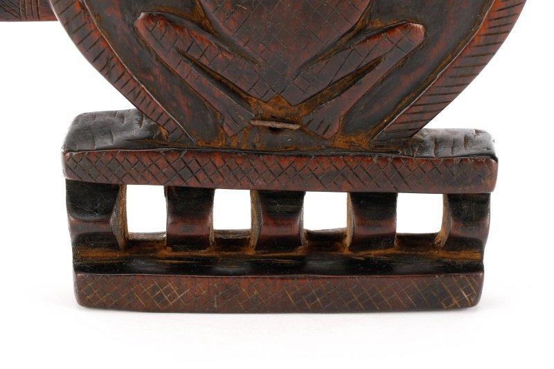 African Dogon Carved Granary Door Lock or Anuan - 6
