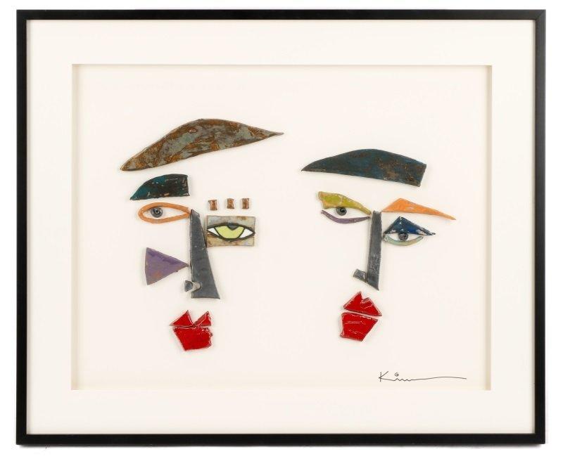 Kim Cantrell, Two Faces, Ceramic Sculpture