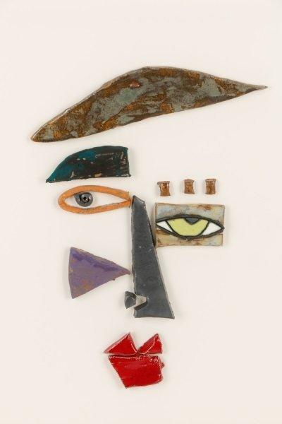 Kim Cantrell, Two Faces, Ceramic Sculpture - 3