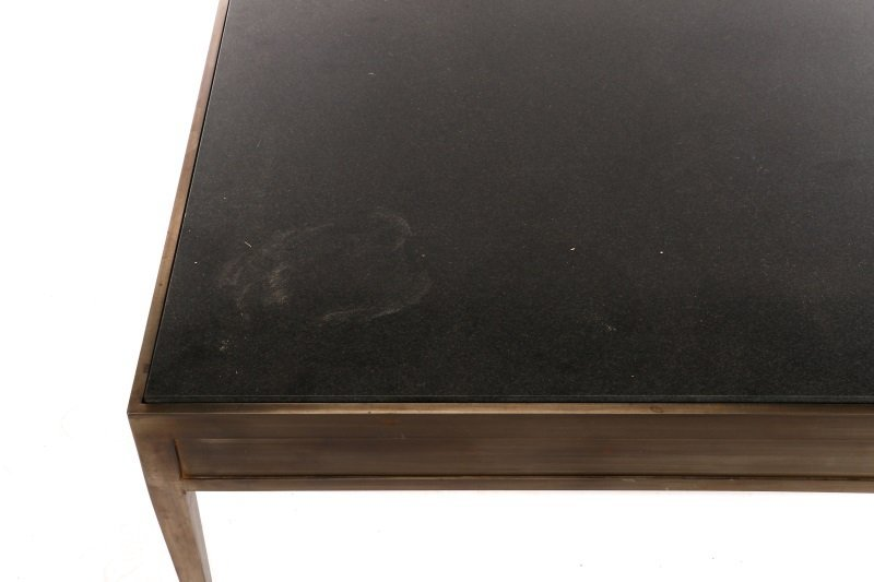 Modernist Brushed Steel & Granite Coffee Table - 3