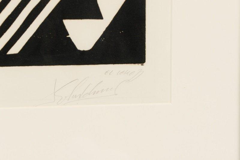 "El Loko, ""Souffrance du Coeur"", Signed Woodcut - 2"