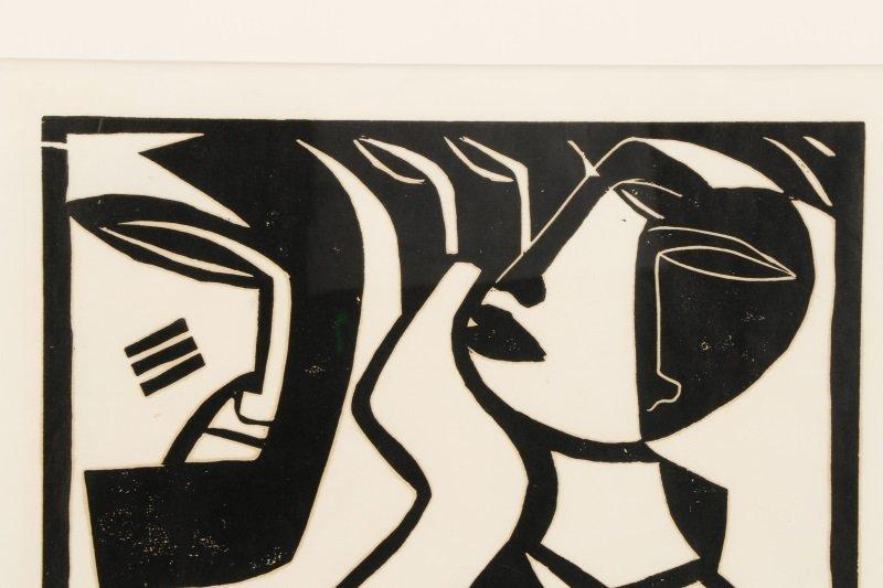 "El Loko, ""Souffrance du Coeur"", Signed Woodcut - 3"