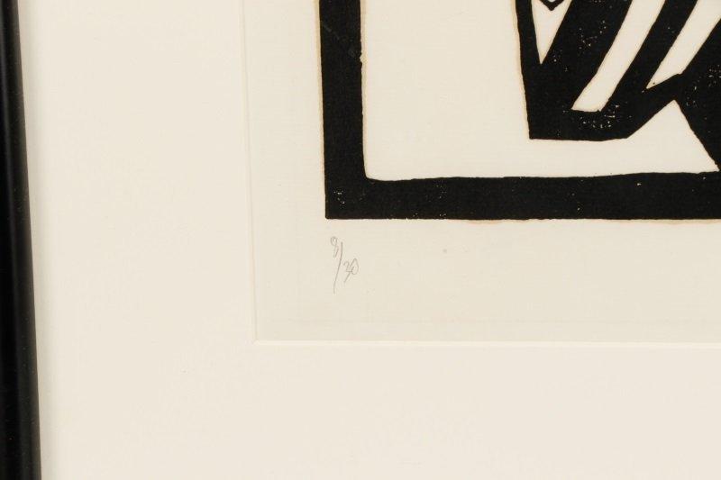 "El Loko, ""Souffrance du Coeur"", Signed Woodcut - 6"