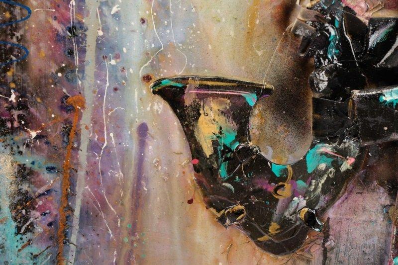 C. Washington 3-D Mixed Media Work, Jazz Musician - 7