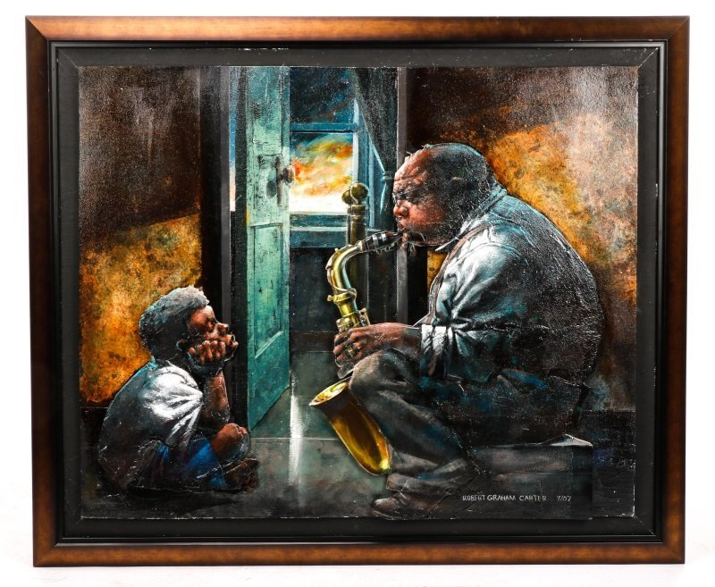 """Robert Graham Carter, """"Grandfather With Sax"""", 2007"""