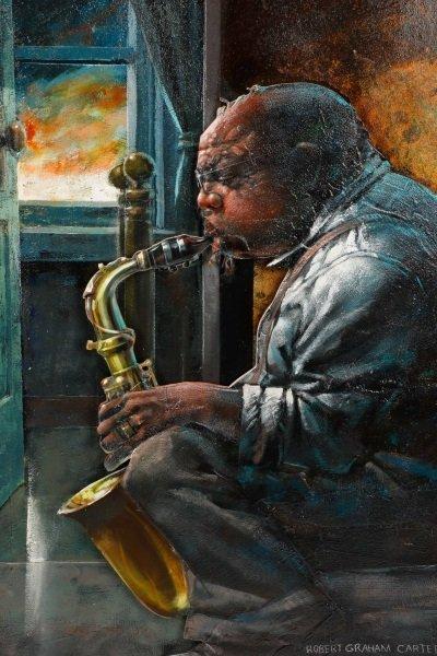 """Robert Graham Carter, """"Grandfather With Sax"""", 2007 - 4"""