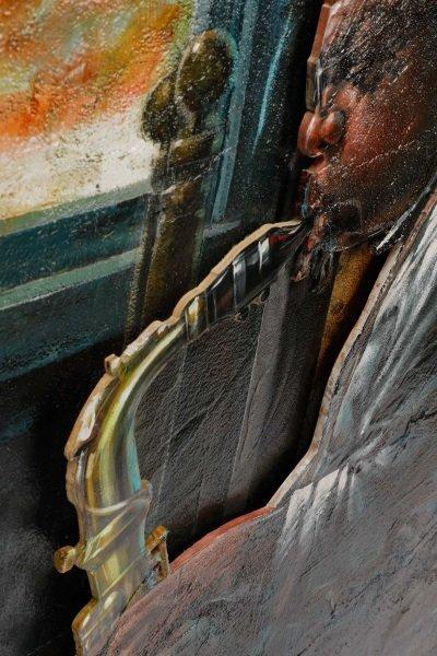 """Robert Graham Carter, """"Grandfather With Sax"""", 2007 - 6"""
