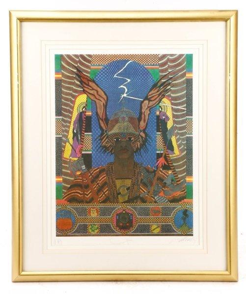 """Alberto del Pozo, """"Ogun"""", Lithograph, 1980"""
