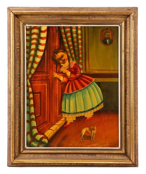 Agapito Labios, Little Girl Eavesdropping, Oil