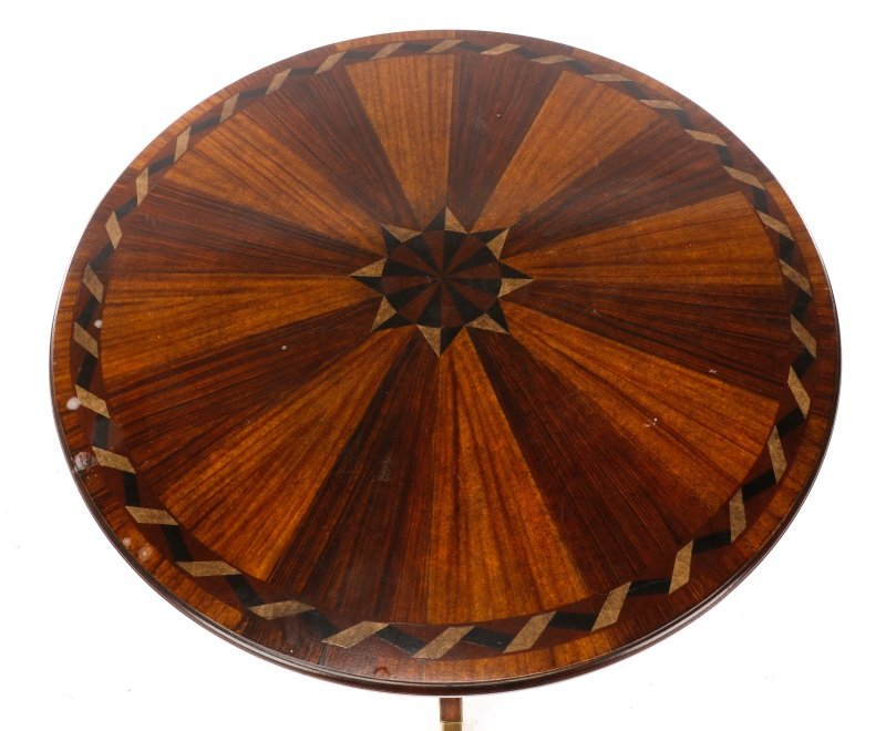Mahogany & Parcel Gilt Decorated Tripod Table - 2