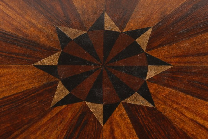 Mahogany & Parcel Gilt Decorated Tripod Table - 3