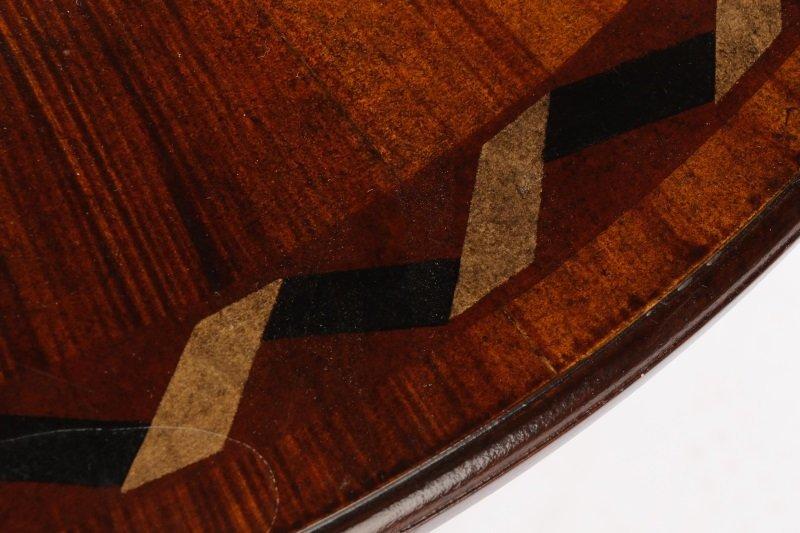Mahogany & Parcel Gilt Decorated Tripod Table - 4