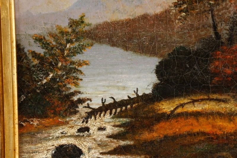 American School, River Through the Wild Land, Oil - 4