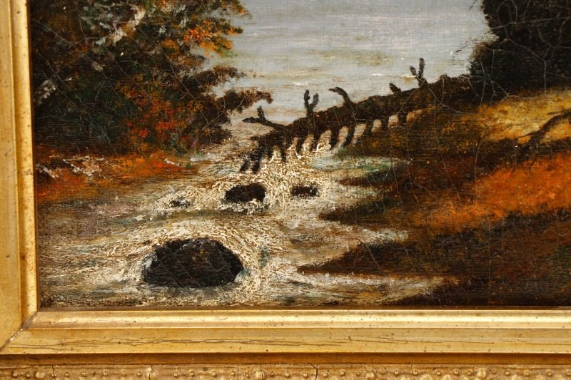 American School, River Through the Wild Land, Oil - 6