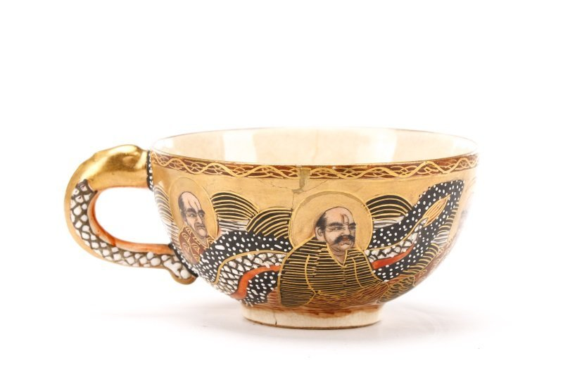 Late Meiji Period Satsuma Earthenware Tea Service - 4