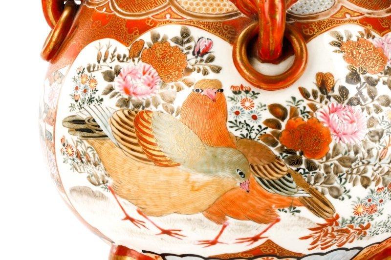 Pair of Japanese Kutani Porcelain Covered Censers - 2