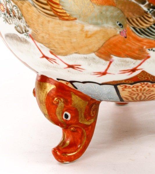 Pair of Japanese Kutani Porcelain Covered Censers - 3