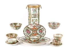 13 Pcs Chinese Export Rose Medallion Porcelain