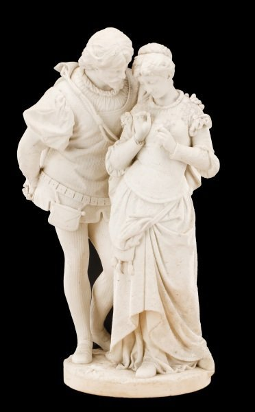 "P. Romanelli, ""Paolo and Francesca"", Marble"