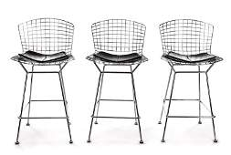 Set of 3 Harry Bertoia for Knoll Counter Stools