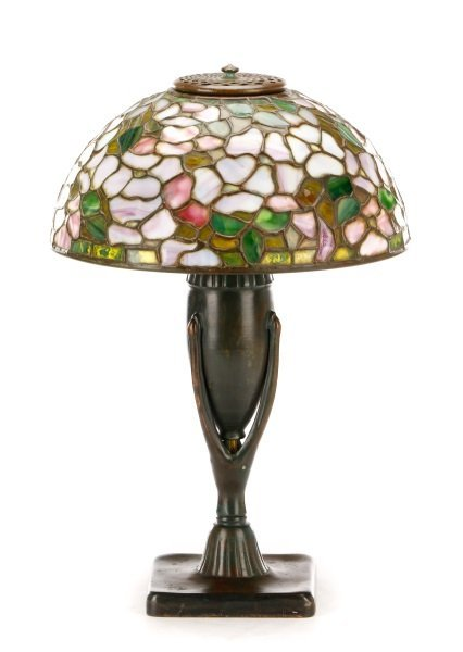 Favrile Glass Dogwood Table Lamp, Tiffany Studios