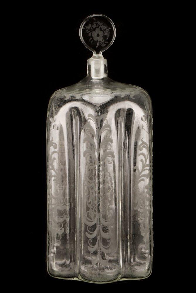 1940s Salir for Buccellati Intaglio Glass Bottle