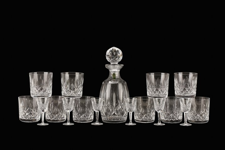 """Waterford """"Lismore"""" Crystal Glassware, 17 Pieces"""