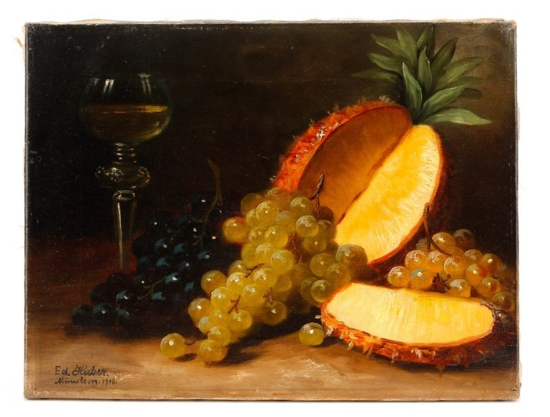 """Eduard Huber-Andorf, """"Still Life With Pineapple"""""""