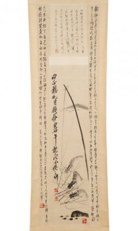 Important Hanging Scroll By Qi Baishi & Others