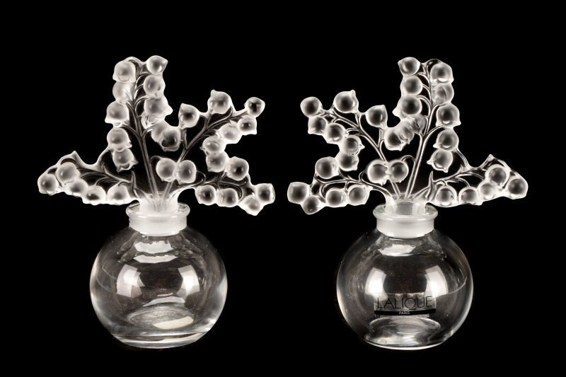 Pair of Lalique Clairefontaine Perfume Bottles