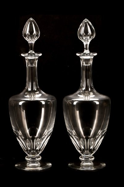 Pair of Baccarat Crystal Decanters, Marked