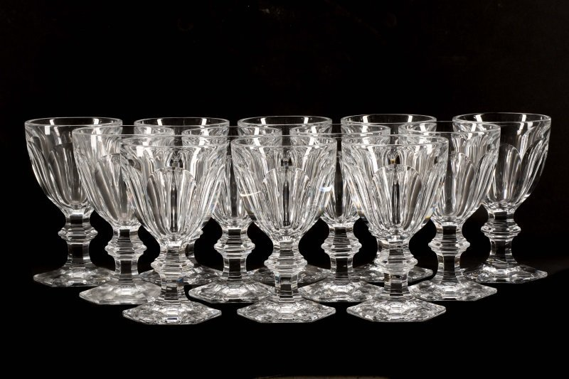 """Set of 12 Baccarat """"Harcourt"""" Water Goblets"""