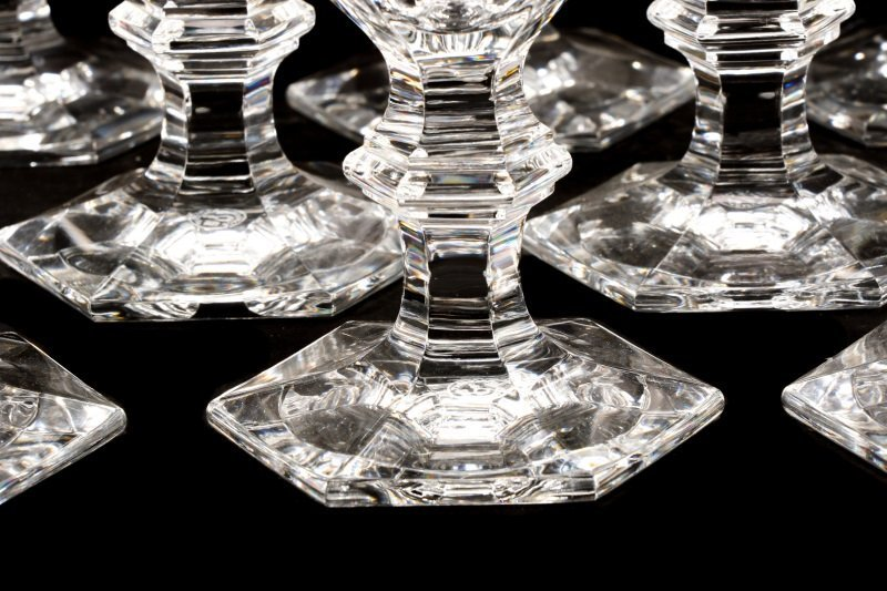 """Set of 12 Baccarat """"Harcourt"""" Water Goblets - 2"""