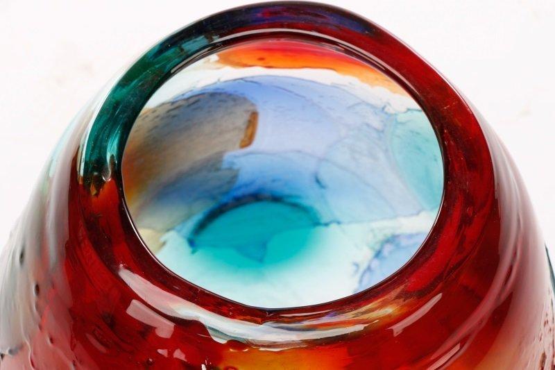 Giuliano Tosi Signed Murano Art Glass Floor Vase - 2