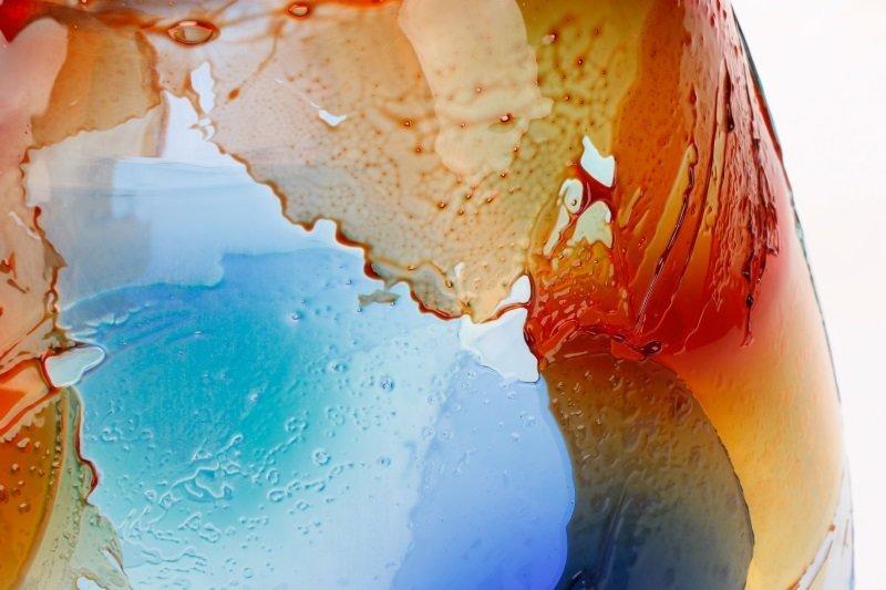 Giuliano Tosi Signed Murano Art Glass Floor Vase - 3