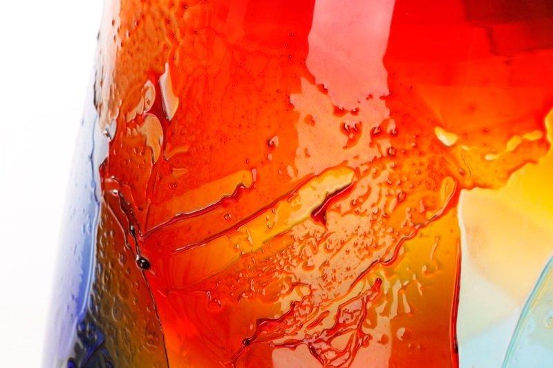 Giuliano Tosi Signed Murano Art Glass Floor Vase - 9