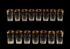 15 Moser Crystal Beverage Glasses, Horace E Dodge