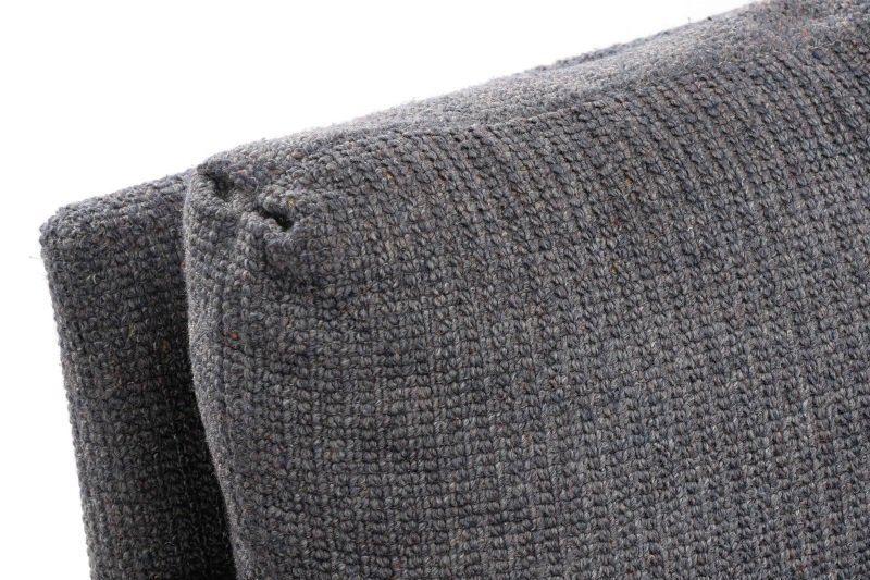 Pair Happy Viking Blue Tweed Upholstered Armchairs - 4