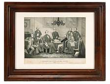 Kelly Civil War Lithograph Jefferson Davis