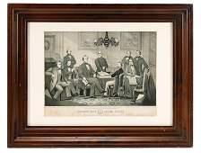 Kelly Civil War Lithograph Jefferson Davis