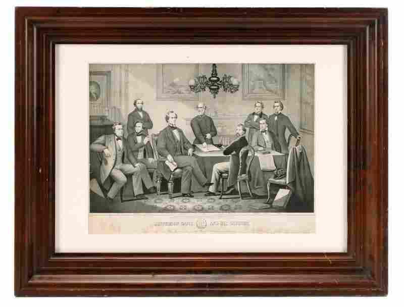 """Kelly, Civil War Lithograph, """"Jefferson Davis..."""""""