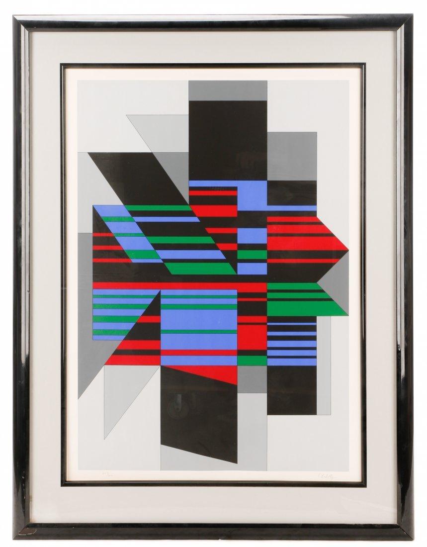 "Victor Vasarely, ""Attika"", Limited Ed. Serigraph"