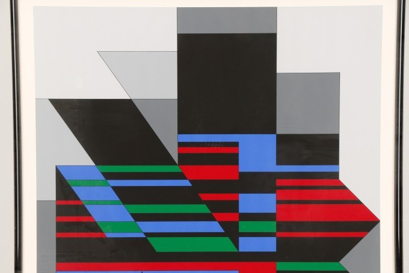 "Victor Vasarely, ""Attika"", Limited Ed. Serigraph - 2"