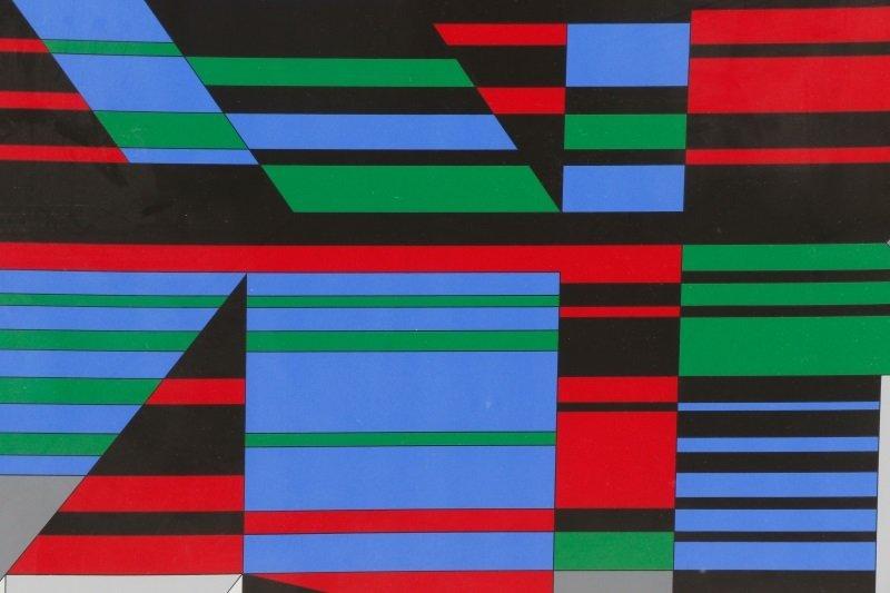"Victor Vasarely, ""Attika"", Limited Ed. Serigraph - 3"