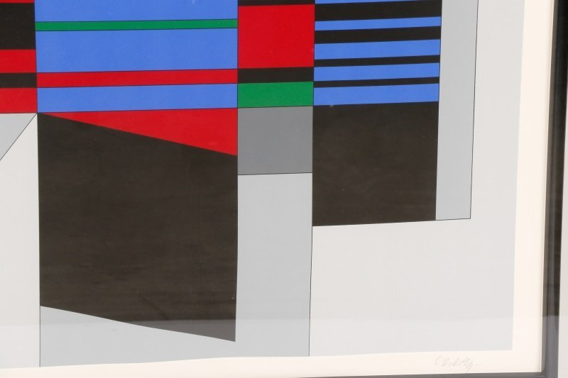 "Victor Vasarely, ""Attika"", Limited Ed. Serigraph - 4"